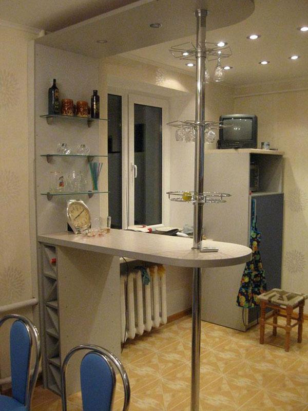 Барная стойка на кухне своими руками 198