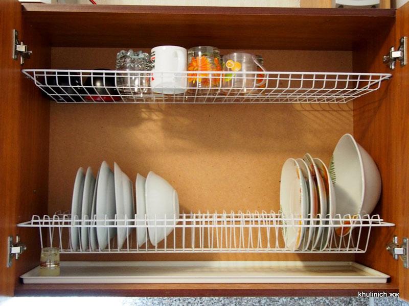 Сушилка для посуды в шкаф своими руками